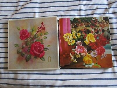 Vintage 2 Boxed Embroidered Hankerchiefs St Micheal 3 To A Box New Condition