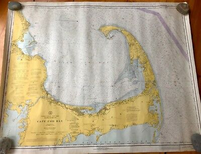 Lot of 5x NOAA Nautical Maps Cape Cod Bay, Mass Bay, Cohasset/Scituate/Duxbury+