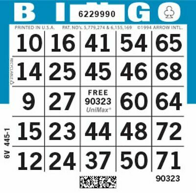 BINGO Paper Cards 1 on's singles 500 sheets LIGHTNING QUICK FREE SHIPPING!!