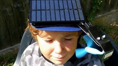 Solar CHILLCLIP 1W6 watt solar powered cooling fan which clips to your cap