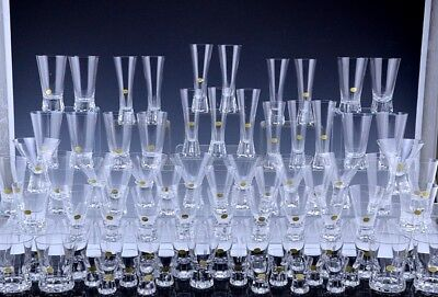 ENORMOUS 80pc SET ROSENTHAL CRYSTAL PATRICIA PATTERN WINE CHAMPAGNE GLASSES ETC