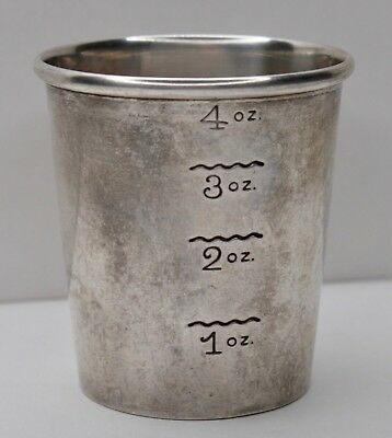 Antique Newport Sterling Silver 1654 Jigger Ounces Measuring Shot Cup 41 grams