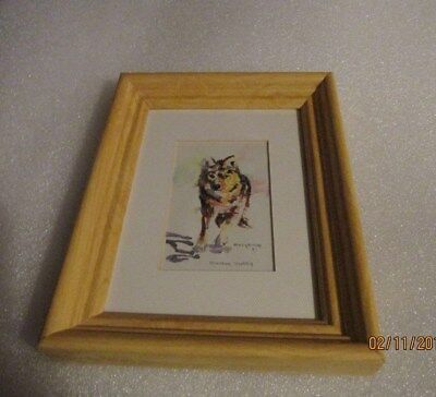 Alaskan Husky watercolor style print #301. Signed Mary MC Coy, Anchorage Alaska