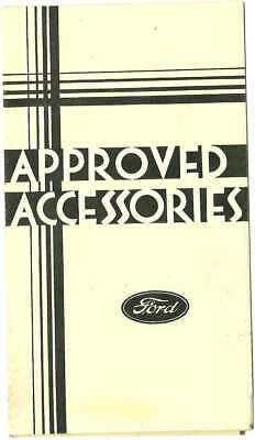 1933 Ford Approved Accessories Foldout Pamphlet