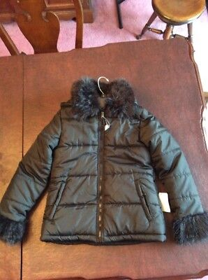 74202f04a BRAND NEW GIRLS Faux Fur Coat Jacket Nordstrom Rack Size Large Black ...
