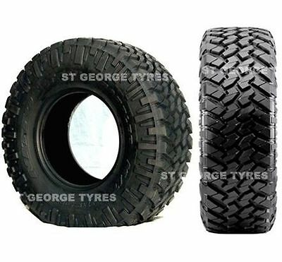 "4X New 285/75R16 Nitto Trail Grappler Mud Tyres 16"" Steel Rims Nissan Patrol"