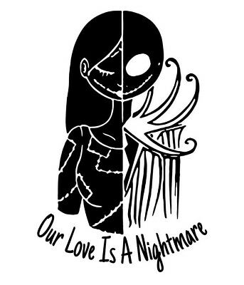 Jack skellington and Sally ,Nightmare Before Christmas ,Love Wall decal home