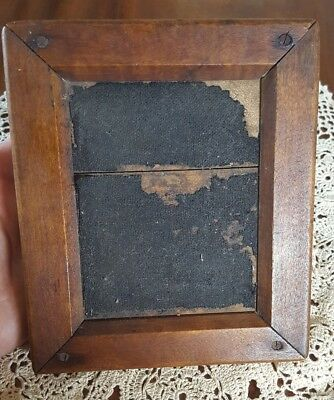 Antique early wooden Picture frame 1800's or earlier, check out the back!!!!!!!