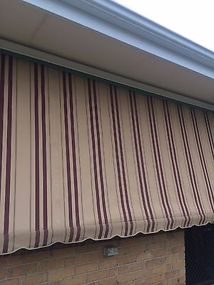 Canvas Window Awnings 1510w x 2080 drop (more in stock, please read details)