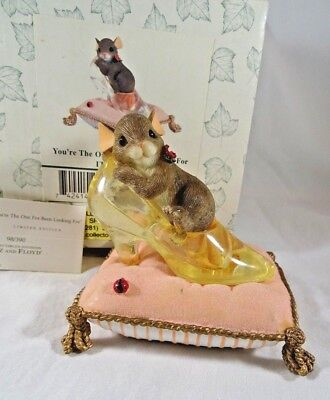 Charming Tails Figurine You're The One I've Been Looking For Glass Slipper
