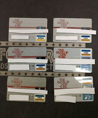 Lot of 6 Vintage Visa Expired Credit Charge Cards