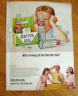 1965 Diet-Rite Cola  Ad Who's Drinking all that Diet-Rite Cola?  Everybody!