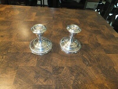 "2 Empire weighted sterling silver candle holders, 3-1/4""h x 3-1/2""w, 508gm [584]"
