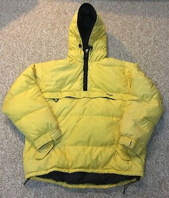 VTG Eddie Bauer EBTEK Goose Down Puffer Jacket Mens XL XXL Snow Beach Bear Polo