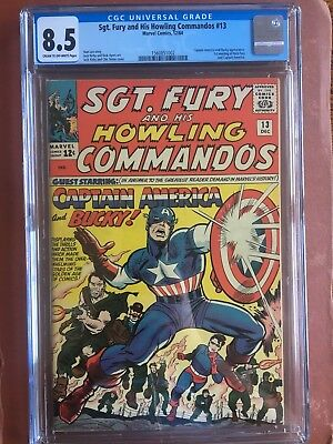 Sgt. Fury and His Howling Commandos 13 CGC 8.5 CR/OW 1964 EARLY CAPTAIN AMERICA