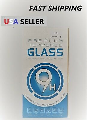 Premium 9H 0.3mm Screen Protector Tempered Glass For iPhone 6 6s 7 8 Lot of 10