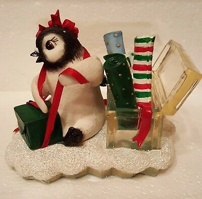 """NIB – Polar Playmates Penguins """"Wrapped In Love"""" from The Hamilton Collection"""