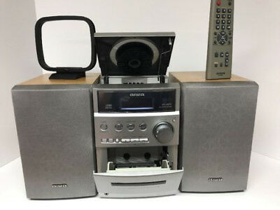 Aiwa CD Cassette Stereo System XR EM30 Compact Bookshelf With Remote