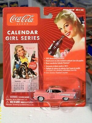 Johnny Lightning White Lightning 57 Chevy Coca Cola Calendar Girls Series