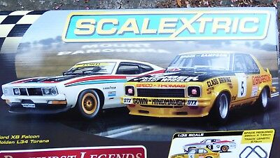 Scalextric BNIB BATHURST LEGENDS SET C1309 - Brock vs Moffat, Holden V Ford