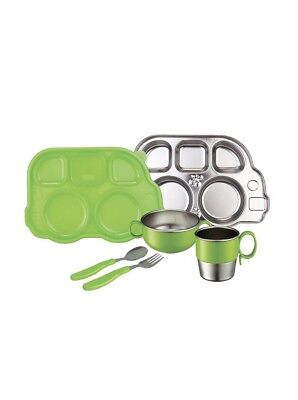 Innobaby Din Din Smart Stainless Steel Dinnerware Gift Set Divided Plate Sect...