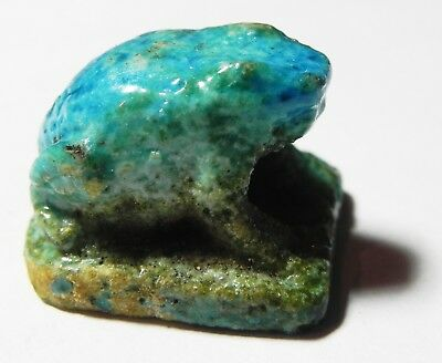 Zurqieh-Asw293- Ancient Egypt, New Kingdom Faience Frog. 1550-1077 B.c