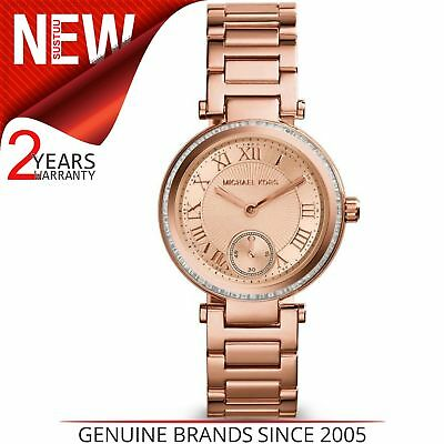 b11e0a2a826c Michael Kors Mini Skylar Ladies Designer Rose Gold Glitz Bracelet Watch  MK5971