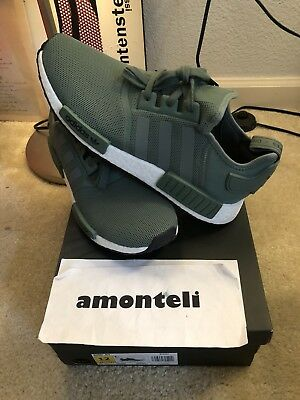 a3d4b228c BY9692 ADIDAS NMD R1 TRACE GREEN OLIVE CARGO WHITE BOOST SHOES NOMAD ...