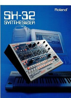 Roland SH-32 Original Product Brochure - Full Color Print, Very Good Condition