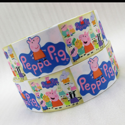 Peppa Pig Ribbon 38mm wide 1m long