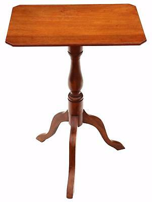 Antique Victorian C1850 mahogany & beech tilt top supper table side wine 4843