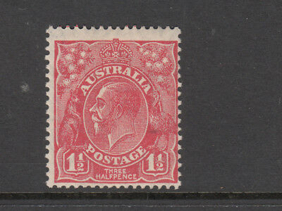 KGV 1 1/2d Red Small Multi. WMK Perf.13.5 x 12.5  Mint Lightly Hinged