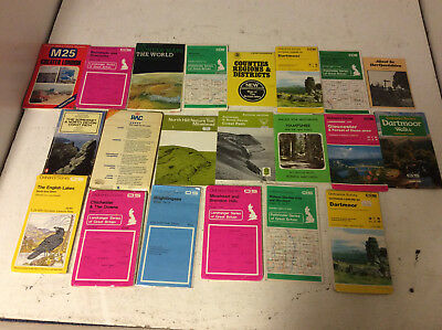 Ordnance Survey & Other Maps Job Lot USED Good Condition (Y1)