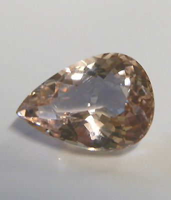 Natural earth-mined Morganite (pink aquamarine)...pear cut ...4.65 carat
