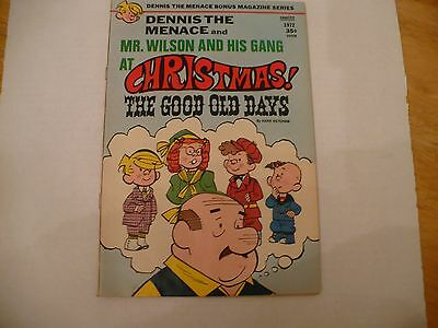 Dennis The Menace & Mr Wilson & Gang At Xmas:good Ole Days! #110 (Fn+ 6.5) 10/72