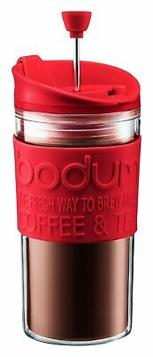 Bodum Travel Press Set Red K11102294 0.35l/12Oz Includes Extra Lid Double Wall