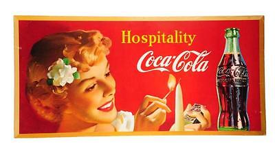 1950 Coca - Cola Hospitality Large Poster    N.O.S.