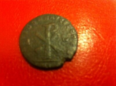Collectable Roman Bronze Coin (AD.350-353) Large Christogram twix Alpha & Omega
