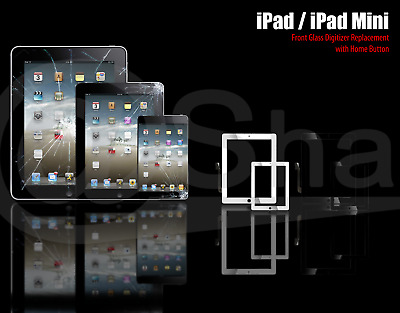Screen For iPad 2/3/4 mini 1/2 Touch Digitizer Replacement Glass + HomeButton IC