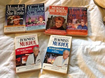 lot of 6 murder she wrote and diagnosis murder mystery b