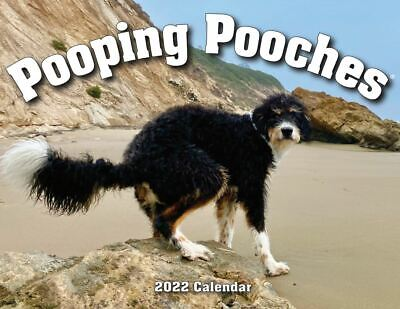 2019 Pooping Pooches Dog Calendar, White Elephant Gag Gift Exchange or Yankee Sw