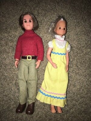 Vintage 1973 Mattel Sunshine Family Dolls DAD Steve MOM Stephie Brown Eyes