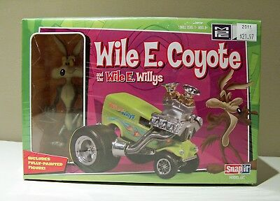 8388: MPC Wile E Coyote Willys Snap It Model Kit SEALED Unopened