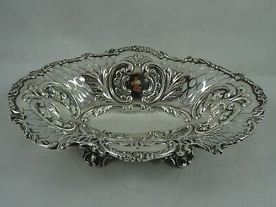 VICTORIAN solid silver SWEET DISH, 1898, 159gm