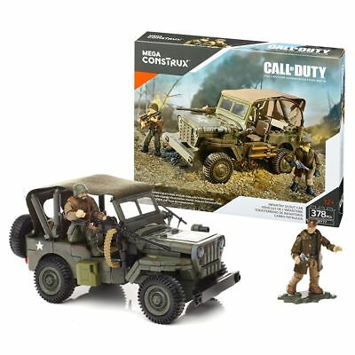 New Mega Construx Call Of Duty Infantry Scout Car w/ Figures FDY77 COD Official