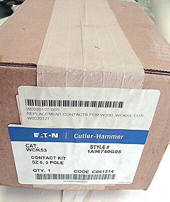 New Genuine Eaton Cutler Hammer Wck53 Size 5 Contact Kit 3-Pole  (B185)
