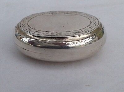 A Vintage Sterling Silver Snuff Or Pill Box, 1990's