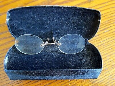 Antique Bowless Spectacles - Eye Glasses Red Wing Minn.- SOEASY
