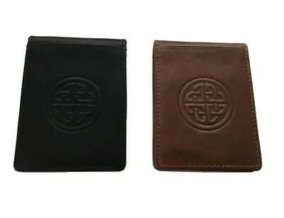 New Celtic Wallet & Money Clip Irish Knot Leather Made in Ireland Lee River