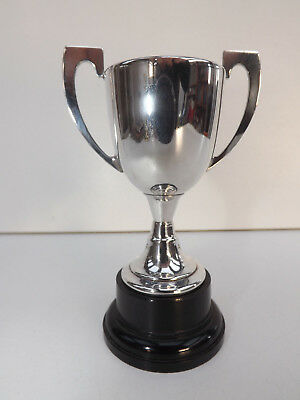Vintage Small Silver Plated Trophy On A Bakelite Base